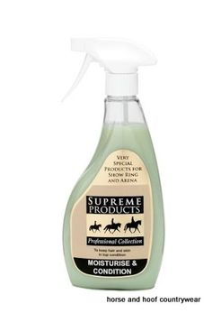 Supreme Products Moisturiser Conditioner Use Supreme Products Moisturise Condition on manes that are regularly plaited hooded dry or liable to get damaged.