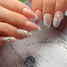 Sweet Lace Nail Art ★ Looking for some wedding nails inspiration? Our collection of exquisite ideas will help you complete your bridal look. Save these ideas for later. nails 39 Exquisite Ideas Of Wedding Nails For Elegant Brides Diy Wedding Nails, Wedding Nails Design, Lace Nail Art, Lace Nails, Nail Art Dentelle, White Toenail Fungus, Hair And Nails, My Nails, Nail Art Designs