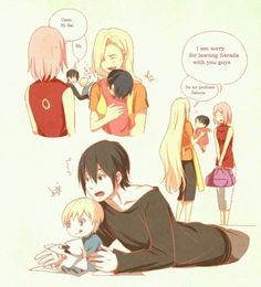 OMFG baby Inojin and Sarada! this can't get any cuter :3