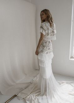 Amelie - Bo and Luca Long Gown For Wedding, Boho Chic Wedding Dress, Boho Gown, Classic Wedding Dress, Gorgeous Wedding Dress, Bridal Gowns, Wedding Gowns, Bo And Luca, Bridal Separates