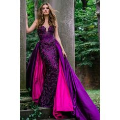 Purple Sweetheart Neck Embellished Couture Dress 36826 ❤ liked on Polyvore featuring dresses, embelished dress, purple day dress, purple dress, sweet heart dress and couture dresses