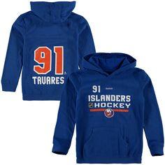Youth New York Islanders John Tavares Reebok Royal Center Ice Authentic Freeze Name & Number Hoodie