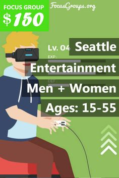 $150 for a new entertainment study! Fieldwork Seattle is looking for people age 15 to 55 to participate in paid focus groups on Home Entertainment. The groups will take place in our client's office on Wednesday, February 22nd or Thursday, February 23rd. The groups will last 2 hours, and you will receive a $150 prepaid Visa card for your participation. If you are interested in participating, please sign up and take the survey to see if you qualify.
