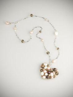 Collana cuore matto - Crazy heart necklace - Cose Vane www.artshoptuscany.com/product/collana-cuore-matto-01/