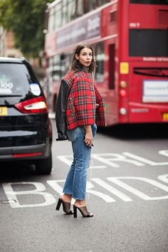 so well plaid. #IrinaLakicevic in London. #APortablePackage
