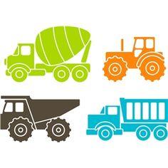 Silhouette Design Store - View Design #12227: trucks