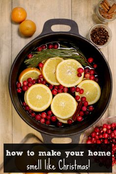 Stovetop potpourri that makes your house smell like Christmas! click to watch