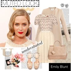 """EMILY BLUNT"" by k-hearts-a ❤ liked on Polyvore"