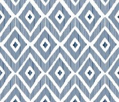 Ikat Navy fabric by fat_bird_designs on Spoonflower - custom fabric