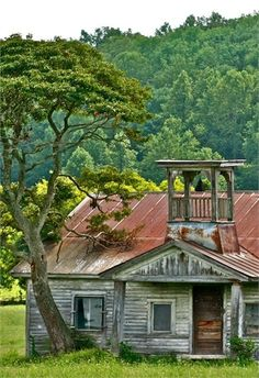 Oldest known school house in the Great Smokey Mountains - in a town called Little Greenbrier, TN.