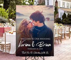 Welcome photo wedding sign printable personalized entrance