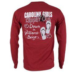 "South Carolina Gamecock Ladies ""Flippn' Out"" Long Sleeve Shirt"