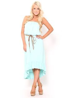 Belted High Low #Dress