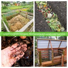 5 DIY Composting Techniques For Creating Your Own Rich, Organic Fertilizer. Composting itself is actually pretty easy and there are several methods and solutions. Whether you own a full-on farm, or live in a tiny apartment, there is no reason you can't or shouldn't be composting. #gardening #composting