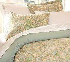 Pottery Barn Lyndsay Paisley Duvet Cover and Sham