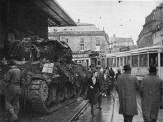 Libération 1944/1945 : La 2e DB Angle Place Kléber rue des Grandes Arcades