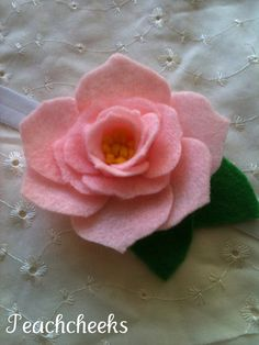 Soft Pink Rose Felt Headband custom sizing perfect for weddings, parties, spring and summer