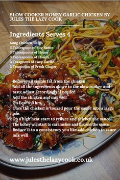 Recipes – Jules The Lazy Cook