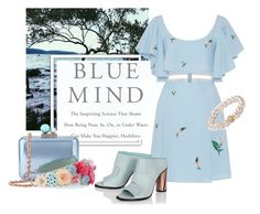 """""""Blue Mind"""" by fancy-chic ❤ liked on Polyvore featuring Wallace, Zayan The Label, Sophia Webster and ORA Pearls"""