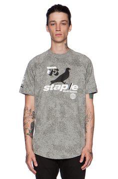 Staple BMX Tee in Grey