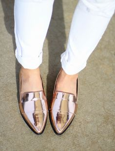 Forever 21 rose gold loafers | www.myrosecoloredshades.com
