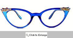 Fete Jeweled Cat Eye Glasses - 539 Blue