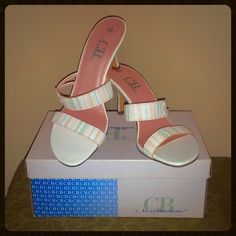 """C.B. Collections """"Christina II"""" NWT C.B. Collections """"Christina II"""" Pastel Pumps NWT Size 10 *NOTE The pink on the inside of second straps is peeling off from storage (though not visible at all when worn) priced accordingly due to this C. B. Collections Shoes"""