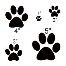Stencil sizes will vary according to the size of the paw print. Description from ebay.com. I searched for this on bing.com/images