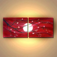Painting - Etsy Art - Page 7 Wine And Canvas, Couple Painting, Art Abstrait, Learn To Paint, Pictures To Paint, Painting Inspiration, Diy Art, Painting & Drawing, Art Projects