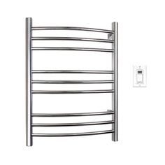 WarmlyYours Riviera 32 in. Towel Warmer in Brushed Stainless Steel-TW-R09BS-HW - The Home Depot