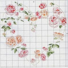 39 - galbut - Picasa Albums Web by alissa Just Cross Stitch, Cross Stitch Heart, Cross Stitch Needles, Cross Stitch Flowers, Cross Stitching, Cross Stitch Embroidery, Embroidery Patterns, Counted Cross Stitch Patterns, Rosa Shabby Chic