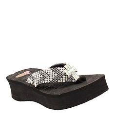 98011db7deac Justin Boots Black Paige Platform Flip-Flop - Women