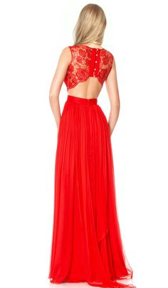 Embellished lace gown in red | | CHIC-BY-CHOICE.COM