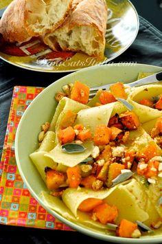 Pappardelle w/ Roasted Pumpkin, Hazelnuts in Brown Butter & Sage Sauce