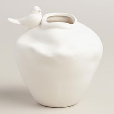 White Bird Organic-Style Vase | World Market