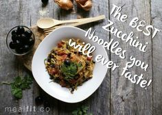 After you have these zuchinni noodles, you won't go back to the original carb! #mealfit #noodles