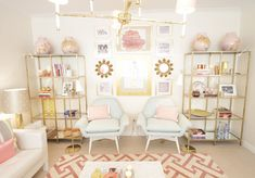 Pink and gold room