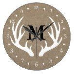 Country Rustic White Deer Antlers Large Clock  #antlers #Clock #Country #Deer #Large #Rustic #RusticClock #White The Rustic Clock
