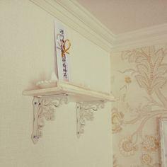 Lounge/DIY/輸入壁紙/神棚がわりに/フレンチシャビーのインテリア実例 - 2015-02-24 06:26:03 Clothes Hanger, Home Decor, Buddha, Coat Hanger, Decoration Home, Room Decor, Clothes Hangers, Home Interior Design, Clothes Racks