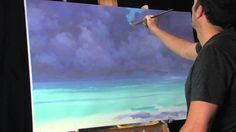 Time Lapse Landscape Painting by Tim Gagnon Dissolving Into Aqua