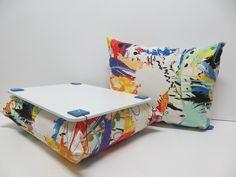 Almofada para Notebook-Riscas Coloridas