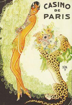 Josephine Baker for Casino de Paris, 1930