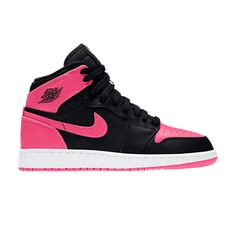 Serena Williams x Air Jordan 1 Retro High EP GG - Air Jordan - 873863 609 - hyper pink/black-white Sneakers Nike Jordan, Nike Kids Shoes, Girls Shoes, Jordan Shoes For Women, Air Jordan Shoes, Jordans Girls, Air Jordans, Jordan 1, Sneakers Fashion