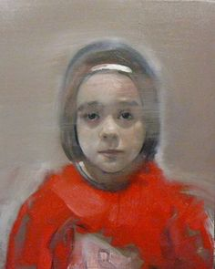 "Saatchi Online Artist christos tsimaris; Painting, ""girl with red"" #art"