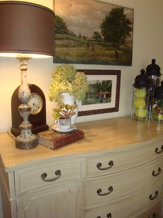 I have this same piece which I painted but left top the mahogany and waxed~everyone loves it!