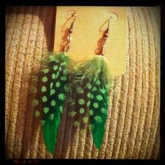 My new hobby, making feather jewelry!