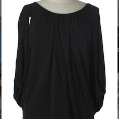 Beautiful & Flattering Black Ella Moss Top Stunning&Unique Black Ella Moss Open Back Top Cut Out Dolman type sleeves, that are very flattering. Low back comes above bra line. 100% Rayon. Ella Moss Tops Blouses
