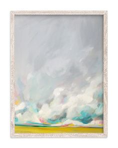 Obsessed with this print by Emily Jeffords in this awesome texture-rich frame. Ours hangs in our kitchen.