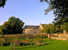 View from the garden. Chateau de la Barre is in the same family for more than 6 centuries.