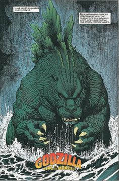 Godzilla, 1992, by Arthur Adams. Der Herr wird im Internet leider sonst vor allem mit seinen sexy Pinups gefeatured, hat aber mal wirklich witzige und bemerkenswerte Comics gemacht.